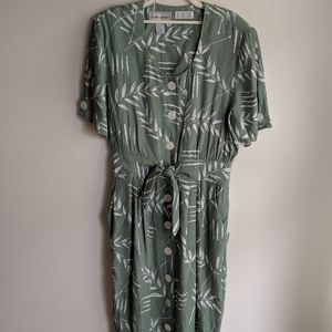 Vintage Karin Stevens Tie Waist dress with pockets